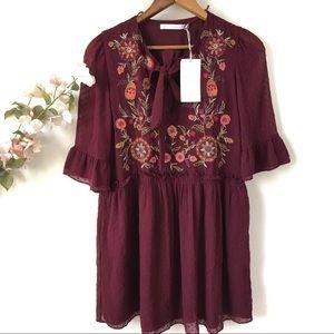 NWT Zara Floral Tunic Dress